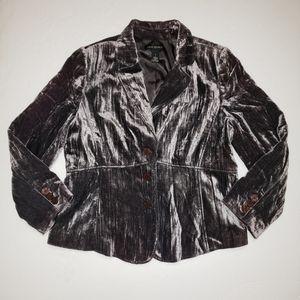 Lane Bryant Metallic Velvet Blazer Plus 18 2X
